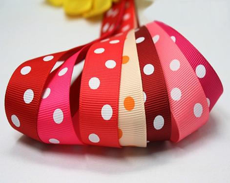 圆点罗纹带 Polka dots grosgrain ribbon
